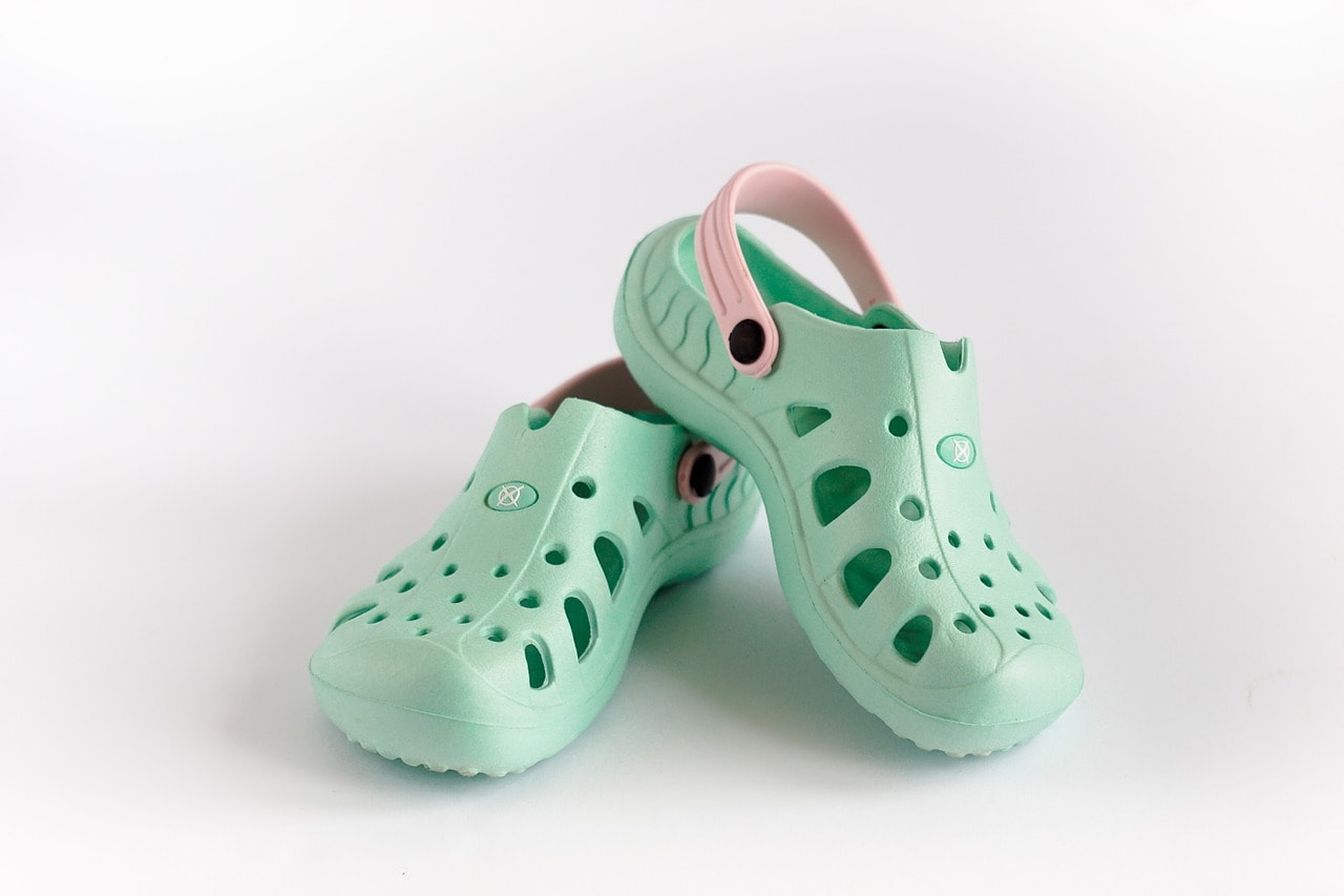 This is why Crocs are designed with a strap.